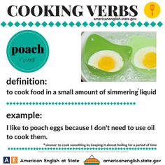Cooking Verbs: poach