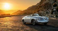 Shiny vintage Porsche!