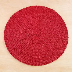 Red Round Braided Placemats at Cost Plus World Market