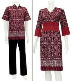 Baju batik modern dress sarimbit