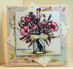 Hello Mo fans, Julie here sharing my card from last month's blog hop - Flower Jar.  This is an image for all occasions but here I've used...