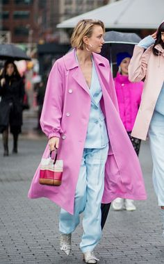 At every single show I attended at London Fashion Week this week, I saw at least one person in a pastel suit. Click to shop our edit of the best around.