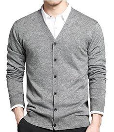 Man in a Cardigan sweater