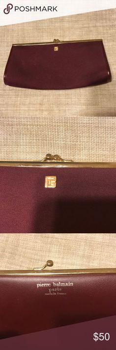 Pierre Balmain clutch Mint condition canvas clutch. 10.5x5.5 Pierre Balmain Bags Clutches & Wristlets