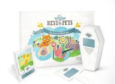 Rest In Pets: Biodegradable cardboard pet caskets by Mat Bogust, via Behance