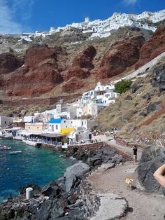 Santorini Greece - yes I even swam down here it was sooo hot