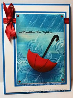 Wether This Together Card created by Michelle Zindorf using Stampin' Up! Products - Weather Together, Swirly Bird and Umbrella Weather Framelits