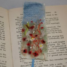 Embroidered and Felted Bookmark  Harvest by Lynwoodcrafts on Etsy, £8.00