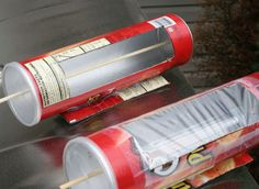Solar Cooking your Hotdog in a Pringles can! Click pic for article/how to: