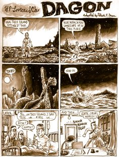 """Today at Underwhelming Lovecraft Comic Synopses is one of Lovecraft's earliest stories. """"Dagon"""" was first published in the November, 1919 issue of The Vagrant."""