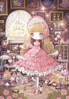 Kawaii Chibi, Kawaii Anime Girl, Kawaii Cute, Anime Art Girl, Manga Anime, Anime Chibi, Nostalgia Art, Cute Girl Drawing, My Doll House