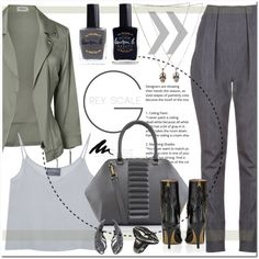 How To Wear Olive, grey & black outfit Outfit Idea 2017 - Fashion Trends Ready To Wear For Plus Size, Curvy Women Over 20, 30, 40, 50