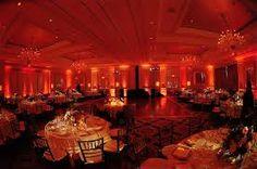 Image result for red uplights wedding Wedding Images, Wedding Designs, Wedding Styles, Reception Decorations, Light Decorations, Table Decorations, 20s Wedding, Wedding Reception, Uplighting Wedding