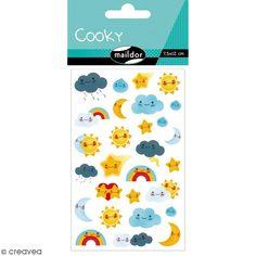 Compra nuestros productos a precios mini Pegatinas fantasía Cooky - Tiempo kawaï - 1 plancha de 7,5 x 12 cm - Entrega rápida, gratuita a partir de 89 € !