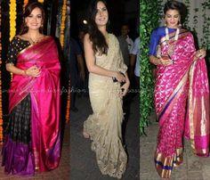 Celebrity Diwali Sarees
