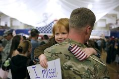 The little boy who reunited with his father after his tour of Afghanistan