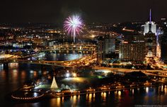 Fireworks at the Point, Pittsburgh - PittsburghSkyline.com
