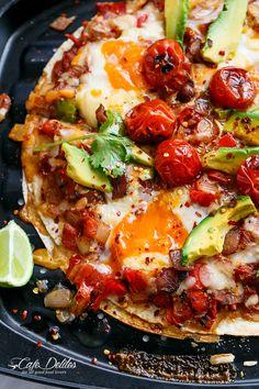 Huevos Rancheros Tortizza (Tortilla Pizza)