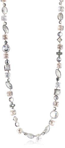 Sorrelli %22Snow Bunny%22 Neutral Crystal Classic Style Silver-Tone Necklace