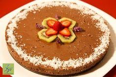 Mint and Chocolate Cake/Tort cu ciocolata si menta Raw Desserts, Healthy Desserts, Dessert Recipes, Raw Cake, Raw Vegan Recipes, Vegan Food, Pop, Chocolate Cake, Acai Bowl