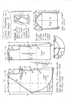 Vestido midi frente única decote reto – DIY – molde, corte e costura – Marlene Mukai Coat Patterns, Dress Sewing Patterns, Sewing Patterns Free, Clothing Patterns, Skirt Patterns, Blouse Patterns, Sewing Hacks, Sewing Tutorials, Sewing Projects
