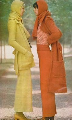 Sonia Rykiel Elle France, September 6 1971 Photographed by Peter Knapp Seventies Fashion, 1960s Fashion, High Fashion, Vintage Fashion, Patti Hansen, 70s Inspired Fashion, Lauren Hutton, Sonia Rykiel, Mode Inspiration