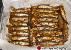 Sardines marinated in mustard and ouzo Greek Recipes, Fish Recipes, Seafood Recipes, Cooking Recipes, Sardine Recipes, Greek Cooking, Western Food, Recipe Images, Appetisers