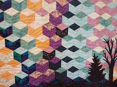 Beautiful quilt entry. Quilts, Blanket, Beautiful, Quilt Sets, Blankets, Log Cabin Quilts, Cover, Comforters, Quilting