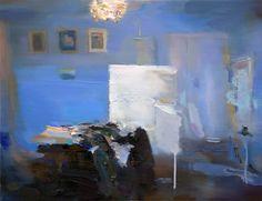 "Saatchi Art Artist: Carlos San Millan; Oil 2013 Painting ""Atelier (SOLD)"""