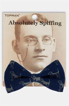 Topman Dog Print Bow Tie