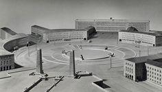 Tempelhofer Flughafen, abandoned airport and public park Fascist Architecture, Monumental Architecture, German Architecture, Concept Architecture, Historical Architecture, Architecture Design, Islamic Architecture, Germany Ww2, Germany And Italy