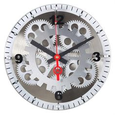 @rosenberryrooms is offering $20 OFF your purchase! Share the news and save!  Moving Gear Wall Clock with Glass Cover #rosenberryrooms