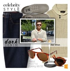 """Menswear Essential: Dark Denim"" by smartbuyglasses-uk ❤ liked on Polyvore featuring Lands' End, Vans, FOSSIL, men's fashion, menswear, darkdenim, persol, menswearessential and persolsunglasses"