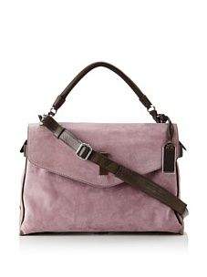 Gryson Women's Cybelle Belted Large Top Handle Messenger (Purple Calf)