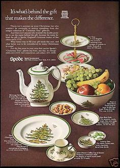 Spode Christmas Tree Pattern China Photo (1968)
