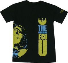 """UWGB is the Original Eco U! The term orginated in the early 1970s when the campus was refered to as """"Eco U"""" by Harper's Magazine, Newsweek and other national and regional media. """"We were green long before green became mainstream,"""" said former interim Chancellor David Ward. This t-shirt, sold by the Phoenix Bookstore, was designed by UWGB '10 grad, Christine Engler!"""
