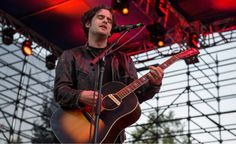 (Rick Egan  |  The Salt Lake Tribune)  Robert Levon Been plays guitar, for the Black Rebel Motorcycle Club at theTwilight Concert Series at Pioneer Park, Thursday, July 23, 2015.