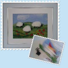 Wet Felting Picture Kit - Grazing Sheep £12.00