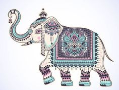 Find Vintage Graphic Vector Indian Lotus Ethnic stock images in HD and millions of other royalty-free stock photos, illustrations and vectors in the Shutterstock collection. Thousands of new, high-quality pictures added every day. Indian Elephant Art, Elephant Artwork, Elephant Quilt, Elephant Images, Indiana, Elephant Sketch, Peacock Wall Art, Elephant Tattoos, Stencil