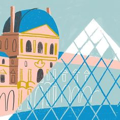 Can't wait to show you more from this project!  ps: have you ever been to Paris? 🙃 #sneakpeek #childrensbook #louvrepyramid