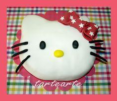 tartearte: tartas fondant Hello Kitty, Cake, Desserts, Food, Fondant Cakes, Tailgate Desserts, Deserts, Kuchen, Essen