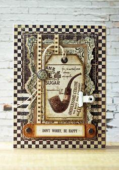 Бумажное притяжение: Второе вдохновение и первая мужская открытка