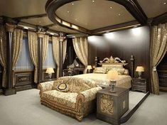 15 Elegant Bedroom Design Ideas Home Design Lover - Is your home feeling a little dated? Whether you desire to overhaul your entire home l. Dream Rooms, Dream Bedroom, Home Bedroom, Bedroom Ceiling, Bedroom Ideas, Master Bedrooms, Master Suite, Bedroom Decor, Luxury Home Decor