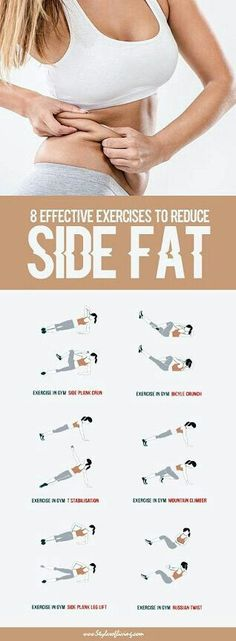8 effective exercises to reduce side fat | Posted By: NewHowToLoseBellyFat.com