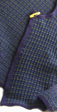 So if you mix purple, green and blue in this tweed stitch, this is what you get - madd laine Knitting Patterns