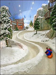 Ski Dubai is one of the largest indoor ski resorts in the world, with 22,500-square meters of indoor ski area.