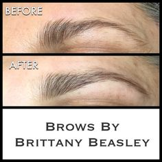 Brow Shaping includes wax, (a low temperature hard wax), brow tint, trim, & tweeze! I love what a little brow tint can do!