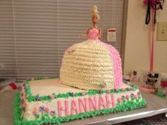 1st Barbie cake.