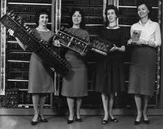 Classic photo of the early women in computer science ....