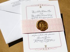 little-miss-press-pink-gray-calligraphy-wax-seal-wedding-invitation